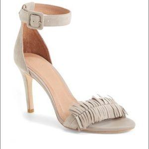 Joie Pippi Fringe Leather Sandal Size 9